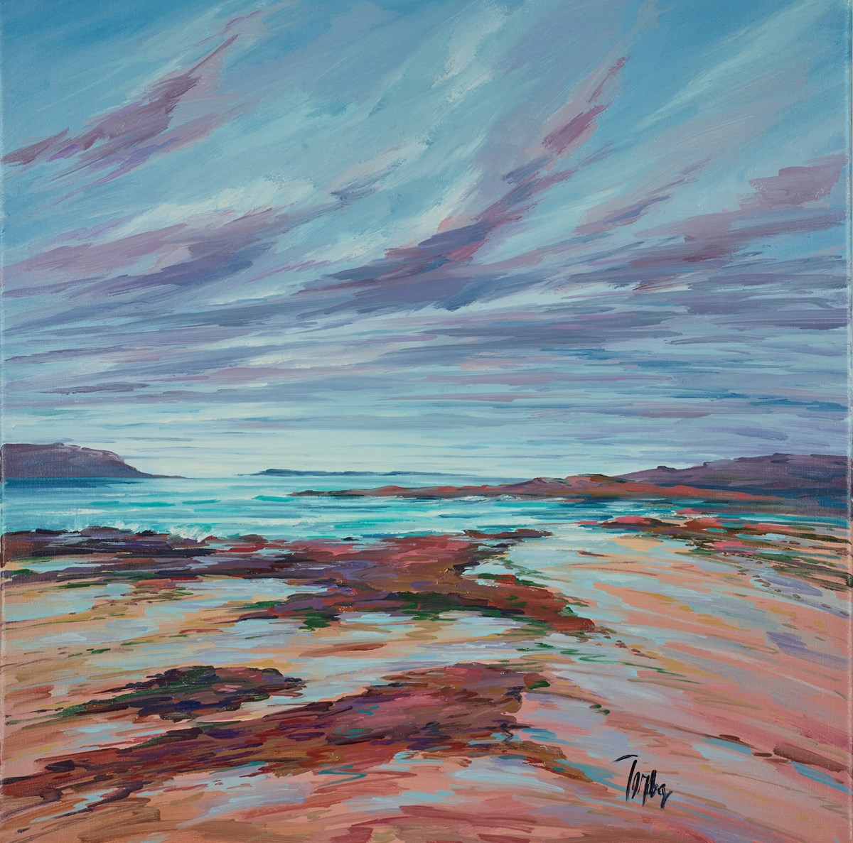 Distant Light Sanna Bay I by tom barron -  sized 24x24 inches. Available from Whitewall Galleries